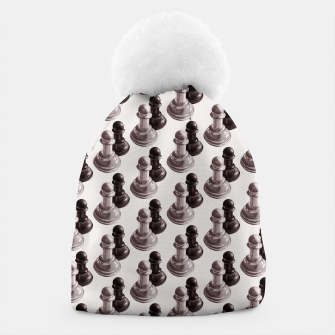 Thumbnail image of Pencil Drawn Chess Pawns Pattern Beanie, Live Heroes