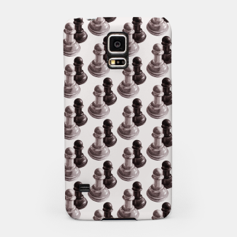 Thumbnail image of Pencil Drawn Chess Pawns Pattern Samsung Case, Live Heroes