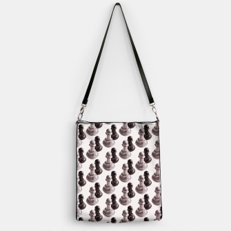 Thumbnail image of Pencil Drawn Chess Pawns Pattern Handbag, Live Heroes