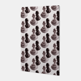 Thumbnail image of Pencil Drawn Chess Pawns Pattern Canvas, Live Heroes
