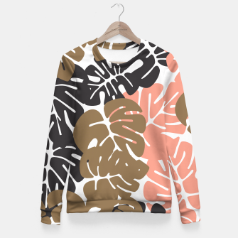 Miniature de image de Tropical pattern 027 Fitted Waist Sweater, Live Heroes