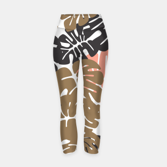 Miniature de image de Tropical pattern 027 Yoga Pants, Live Heroes