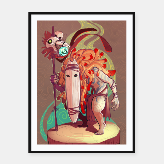 Thumbnail image of Forest Soothsayer Framed poster, Live Heroes