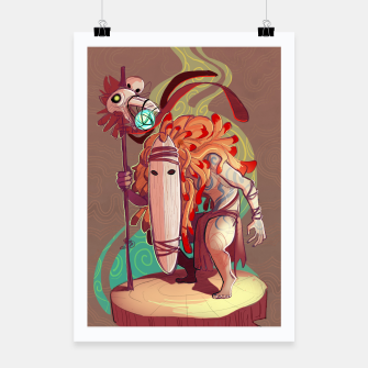 Thumbnail image of Forest Soothsayer Poster, Live Heroes