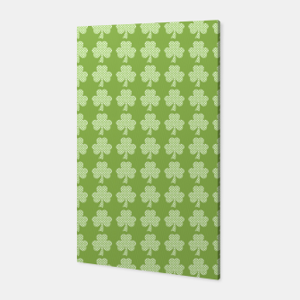 Miniature de image de Greenery Shamrock Clover Polka dots St. Patrick's Day pattern Canvas, Live Heroes
