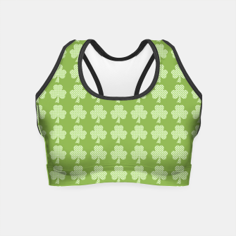 Thumbnail image of Greenery Shamrock Clover Polka dots St. Patrick's Day pattern Crop Top, Live Heroes