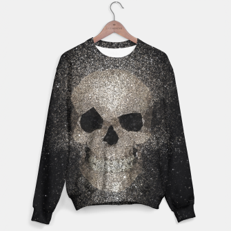 Thumbnail image of Skull glitter gold Sweater, Live Heroes