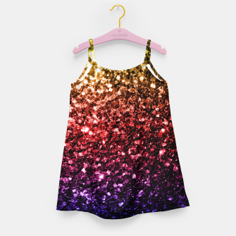 Miniature de image de Beautiful Rainbow yellow red purple sparkles Girl's Dress, Live Heroes