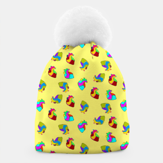 Miniature de image de Candy hearts on yellow Beanie, Live Heroes