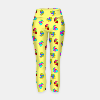 Miniature de image de Candy hearts on yellow Yoga Pants, Live Heroes