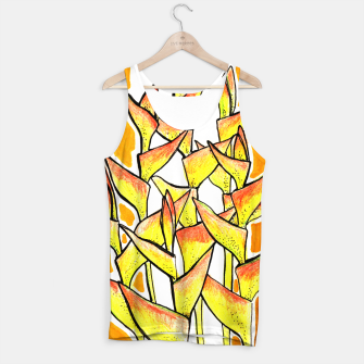 Thumbnail image of Heliconia Rostrata / Lobster Claw, floral art, yellow & orange Tank Top, Live Heroes