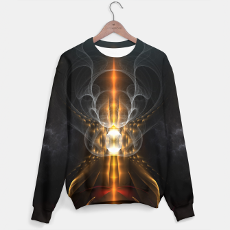 Thumbnail image of Lightasm Swirl Fractal Art Sweater, Live Heroes