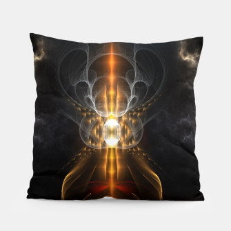 Thumbnail image of Lightasm Swirl Fractal Art Pillow, Live Heroes