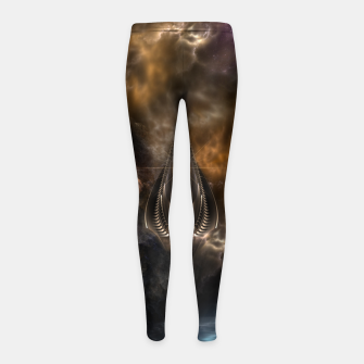 Thumbnail image of Light Of The Spear Fractal Art Girl's Leggings, Live Heroes