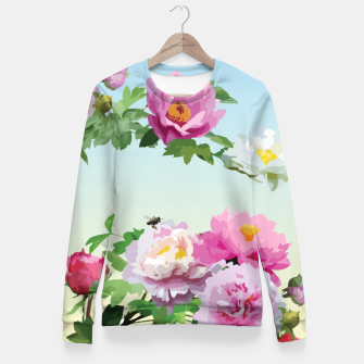 Thumbnail image of  Chinese Peonies Fitted Waist Sweater, Live Heroes