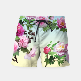 Thumbnail image of  Chinese Peonies Swim Shorts, Live Heroes
