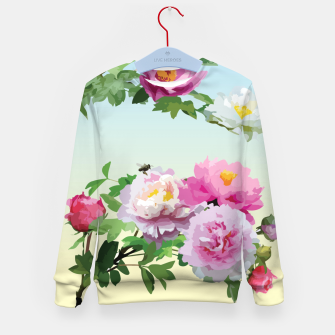 Thumbnail image of  Chinese Peonies Kid's Sweater, Live Heroes