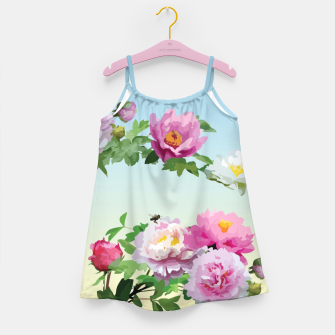 Thumbnail image of  Chinese Peonies Girl's Dress, Live Heroes