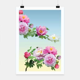 Thumbnail image of  Chinese Peonies Poster, Live Heroes