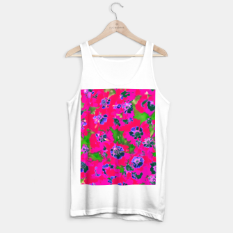 Thumbnail image of blooming pink flower with green leaf background Tank Top regular, Live Heroes