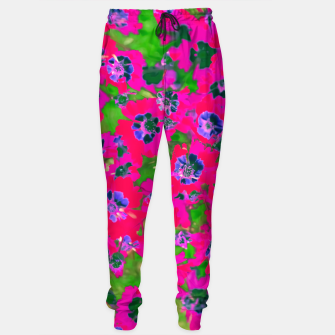 Thumbnail image of blooming pink flower with green leaf background Sweatpants, Live Heroes