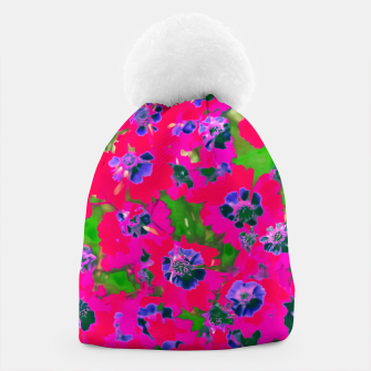 Thumbnail image of blooming pink flower with green leaf background Beanie, Live Heroes