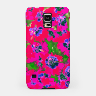 Thumbnail image of blooming pink flower with green leaf background Samsung Case, Live Heroes