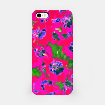 Thumbnail image of blooming pink flower with green leaf background iPhone Case, Live Heroes