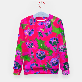 Thumbnail image of blooming pink flower with green leaf background Kid's Sweater, Live Heroes