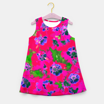 Thumbnail image of blooming pink flower with green leaf background Girl's Summer Dress, Live Heroes