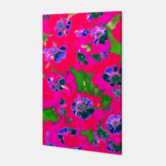 Thumbnail image of blooming pink flower with green leaf background Canvas, Live Heroes
