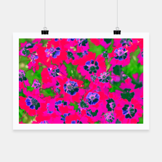 Thumbnail image of blooming pink flower with green leaf background Poster, Live Heroes
