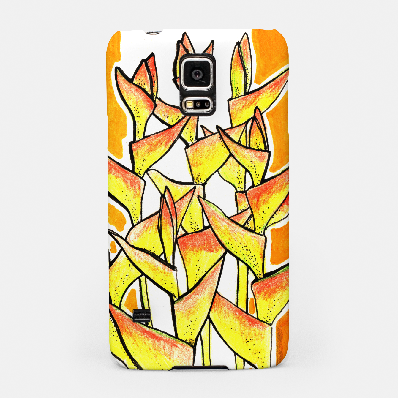 Image of Heliconia Rostrata / Lobster Claw, floral art, yellow & orange Samsung Case - Live Heroes