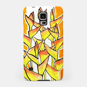 Thumbnail image of Heliconia Rostrata / Lobster Claw, floral art, yellow & orange Samsung Case, Live Heroes
