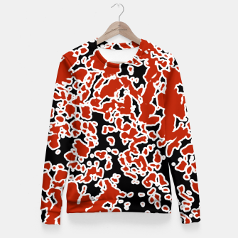 Thumbnail image of Splatter Abstract Texture Fitted Waist Sweater, Live Heroes
