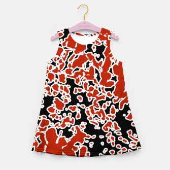 Thumbnail image of Splatter Abstract Texture Girl's Summer Dress, Live Heroes