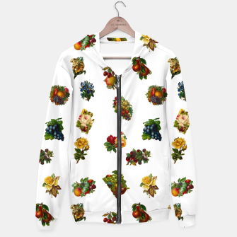Vintage Fruits & Flowers Hoodie thumbnail image