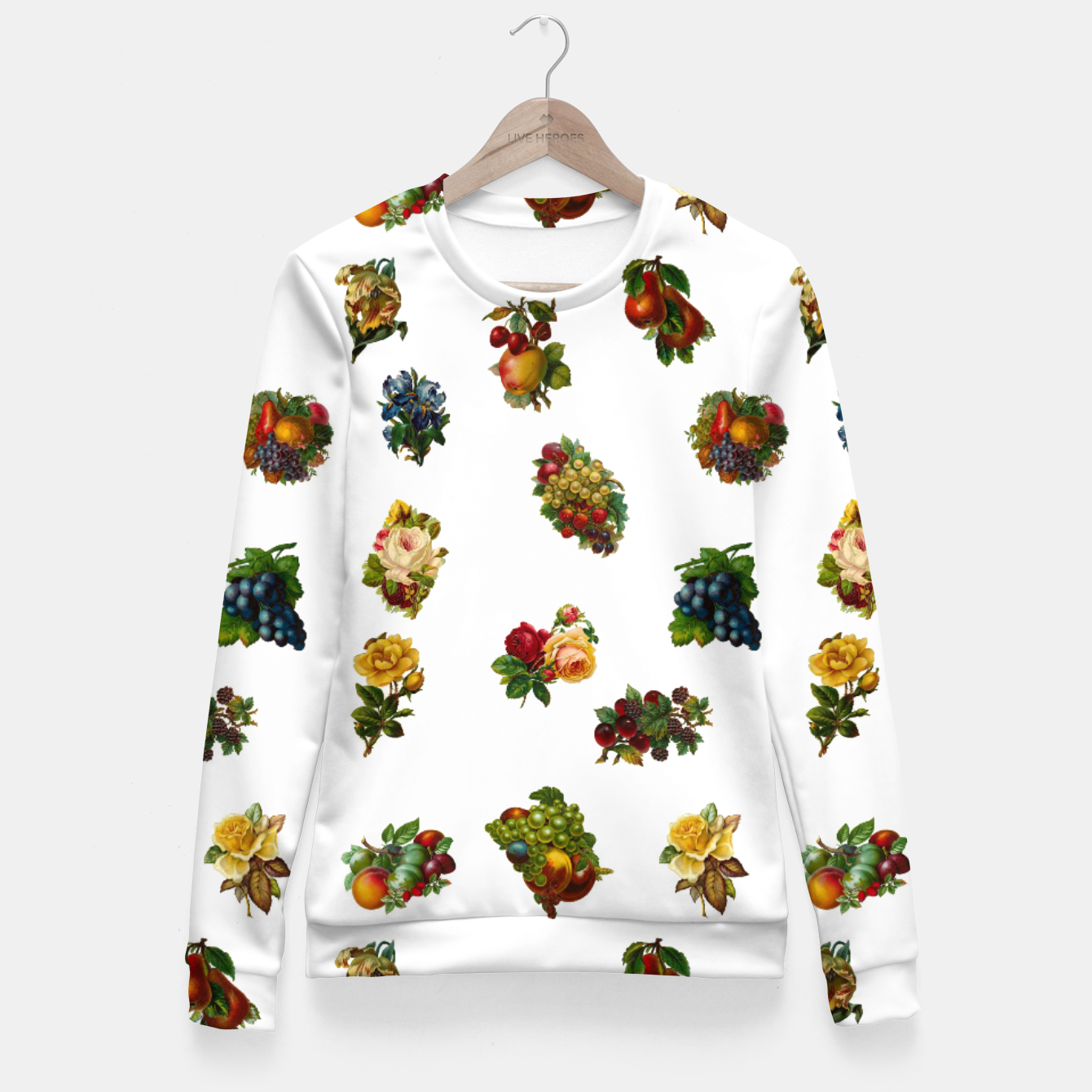 Image of Vintage Fruits & Flowers Fitted Waist Sweater - Live Heroes