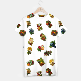 Vintage Fruits & Flowers T-shirt thumbnail image
