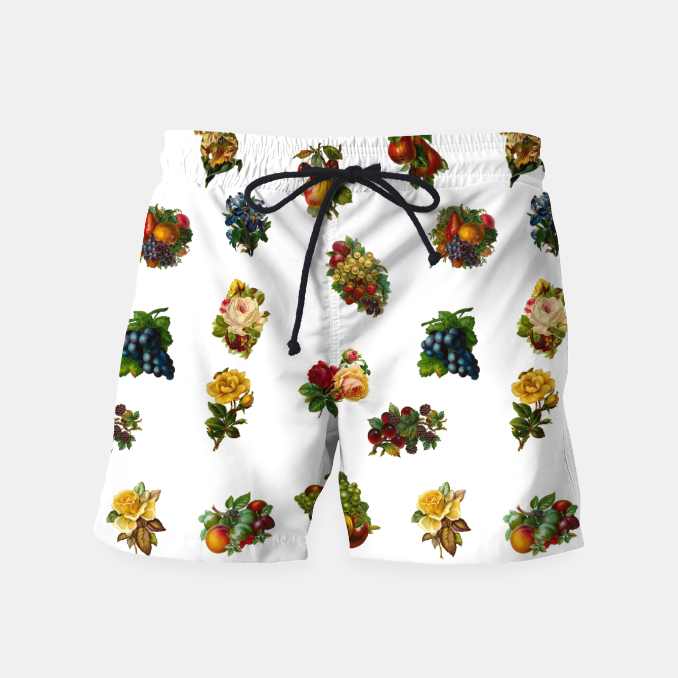 Image of Vintage Fruits & Flowers Swim Shorts - Live Heroes