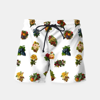 Vintage Fruits & Flowers Swim Shorts thumbnail image