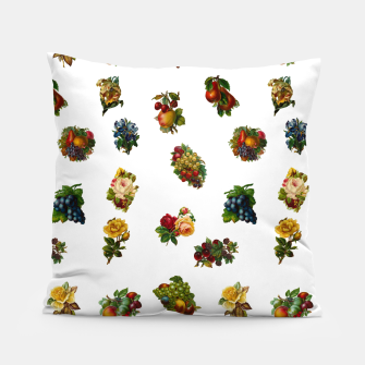 Vintage Fruits & Flowers Pillow thumbnail image