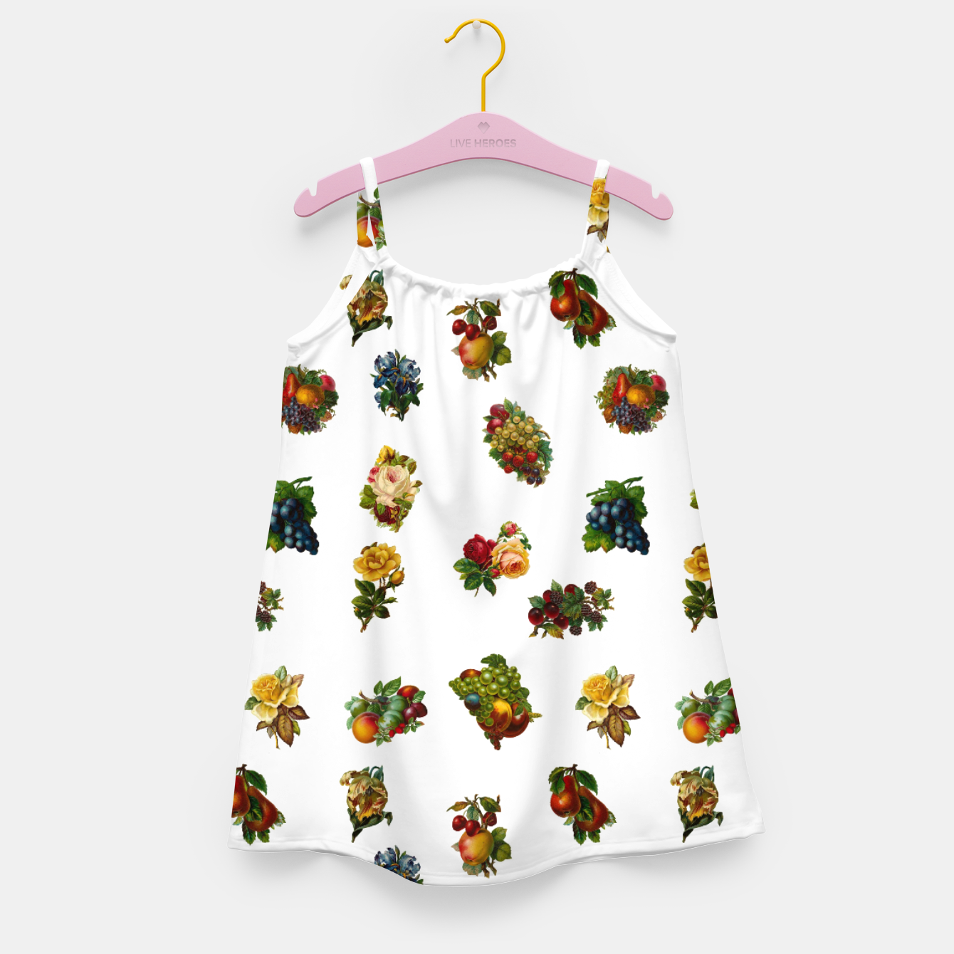 Image of Vintage Fruits & Flowers Girl's Dress - Live Heroes