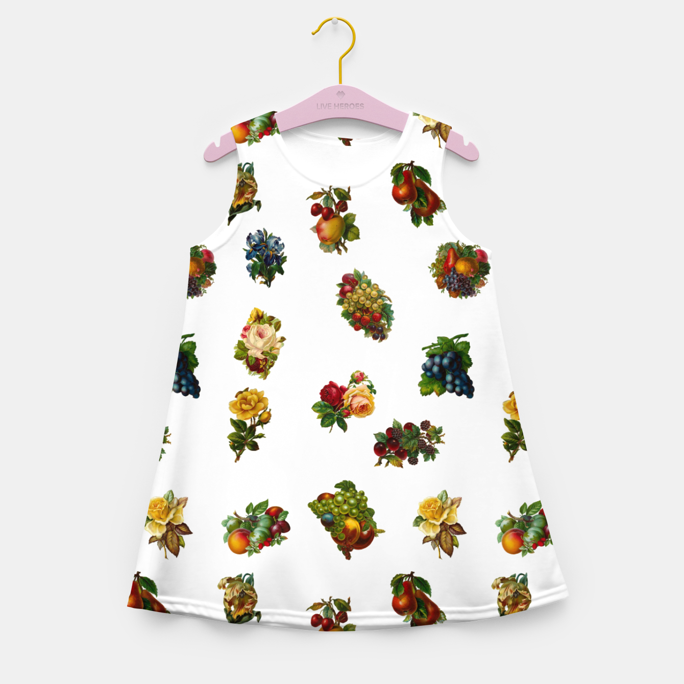 Image of Vintage Fruits & Flowers Girl's Summer Dress - Live Heroes