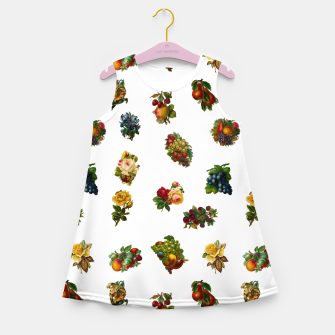 Vintage Fruits & Flowers Girl's Summer Dress thumbnail image