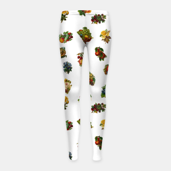 Vintage Fruits & Flowers Girl's Leggings thumbnail image