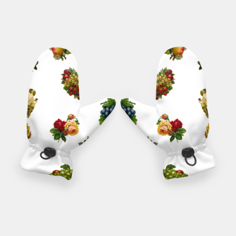 Thumbnail image of Vintage Fruits & Flowers Gloves, Live Heroes