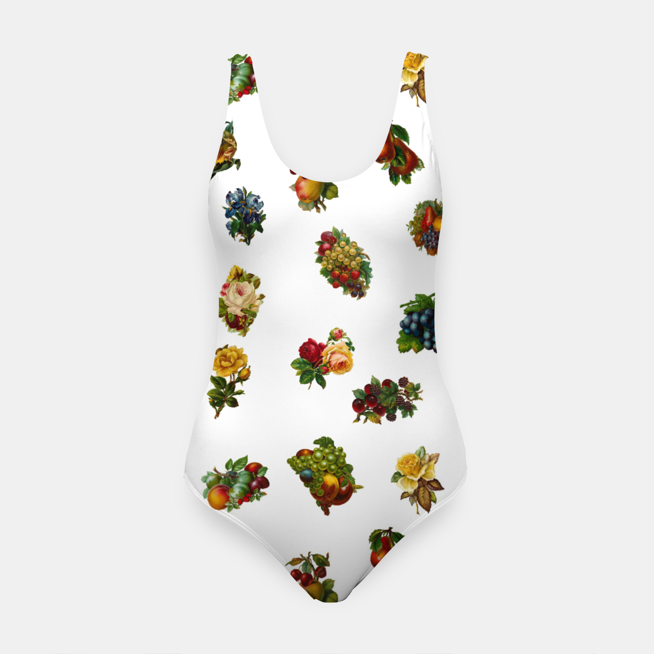 Image of Vintage Fruits & Flowers Swimsuit - Live Heroes