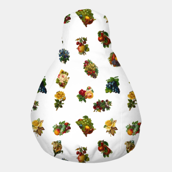 Thumbnail image of Vintage Fruits & Flowers Pouf, Live Heroes