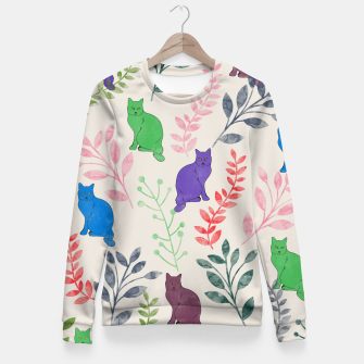 Thumbnail image of Floral and Cat VI Fitted Waist Sweater, Live Heroes